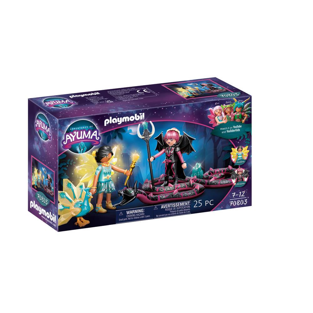 PLAYMOBIL Adventures of Ayuma Crystal Fairy en Bat Fairy met totemdieren 70803