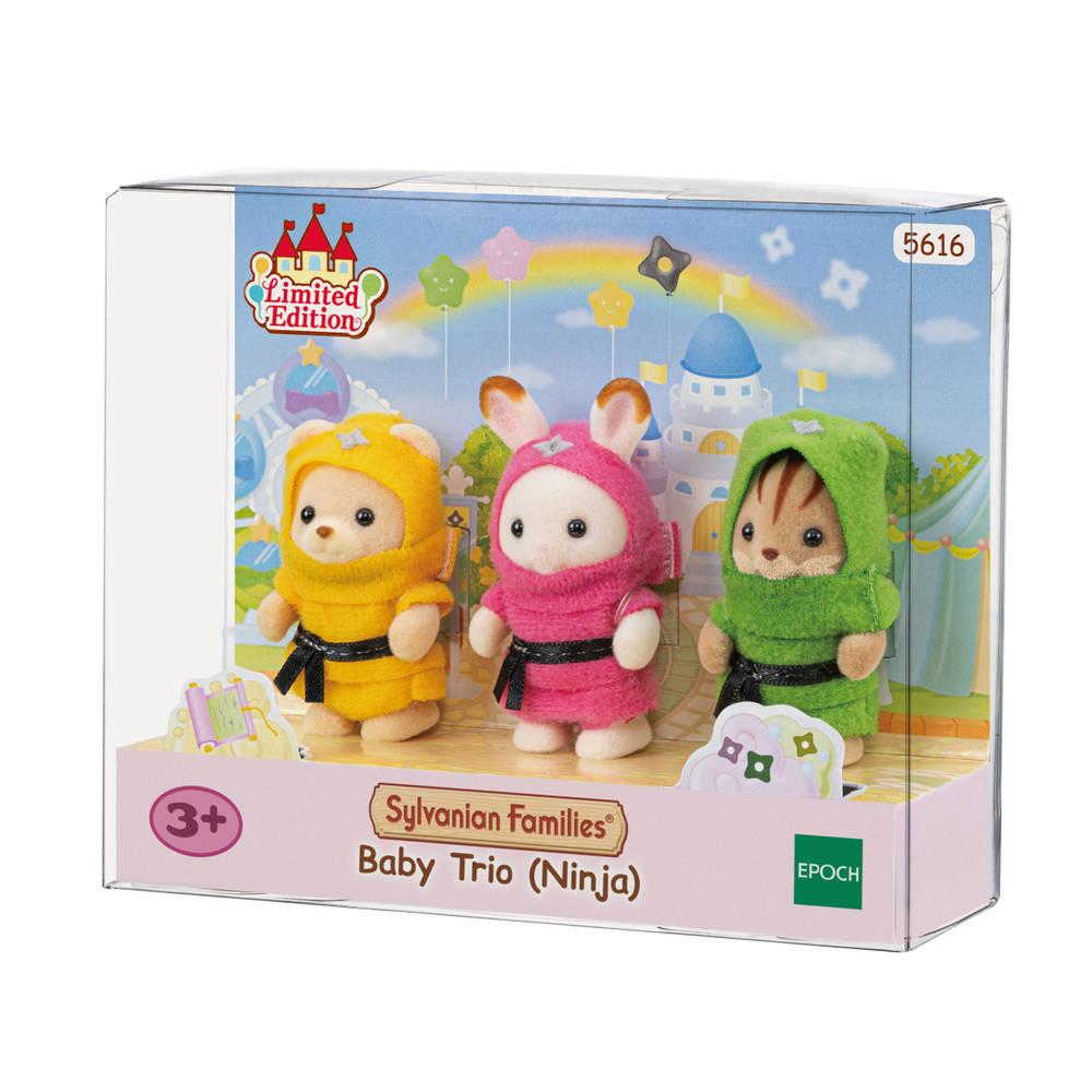 Sylvanian Families baby ninja trio