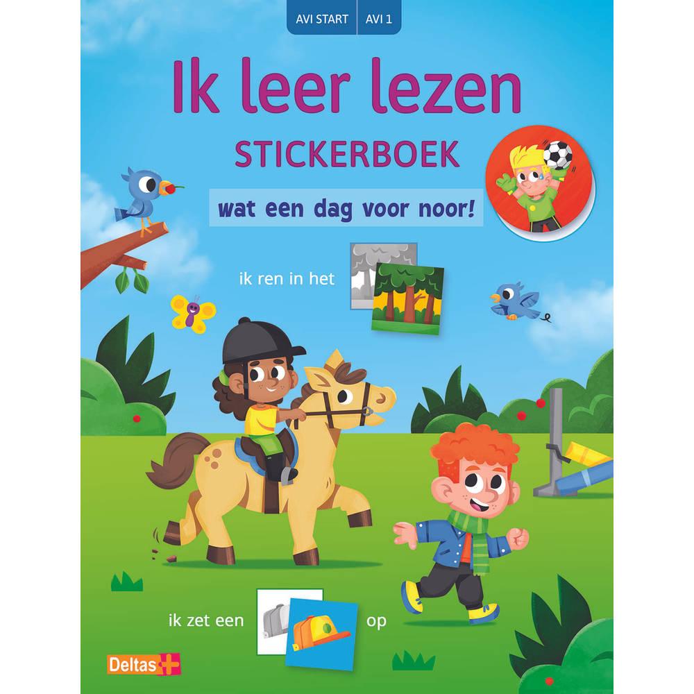 Ik leer lezen stickerboek – Wat een dag voor Noor!
