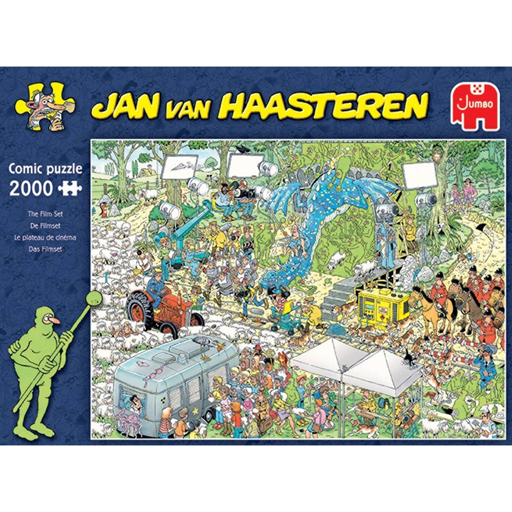 Jumbo Jan van Haasteren puzzel De filmset - 2000 stukjes