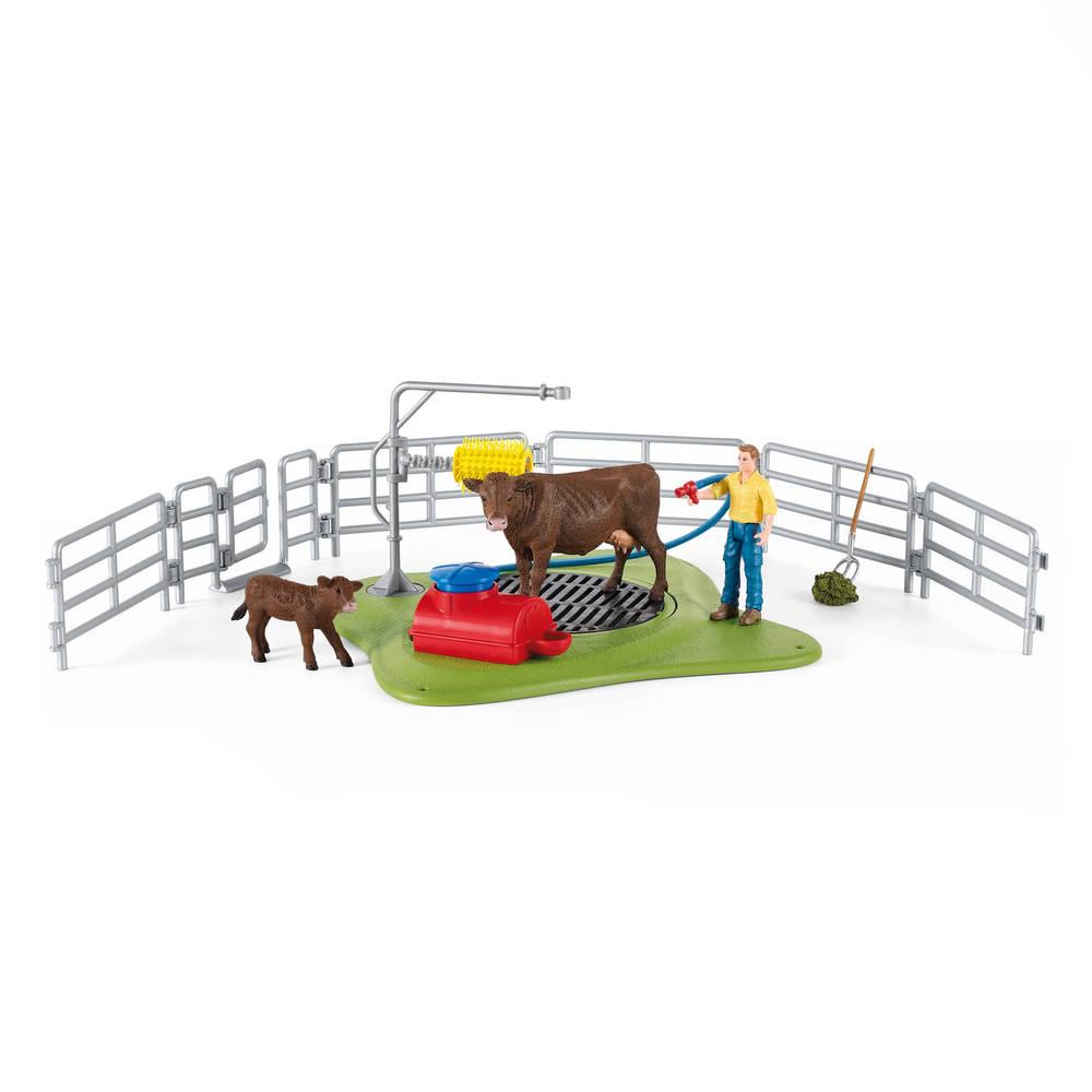 Schleich Farm World wasstation voor koeien 42529