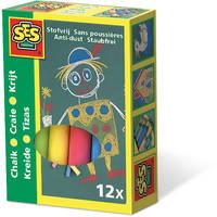 SES Creative 12 krijtjes - multikleur