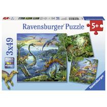 Ravensburger puzzelset dinosaurus - 3 x 49 stukjes