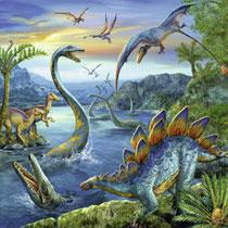 3x49 Puzzel Dinosauriers