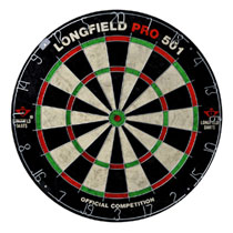 Longfield wedstrijd dartbord