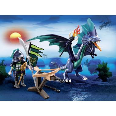 - PLAYMOBIL Dragons draak met krijger 5484