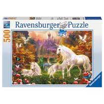 Ravensburger puzzel Betoverde eenhoorns - 500 stukjes