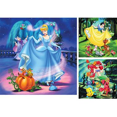 - 3x49 Stuks Puzzel Disney Princess