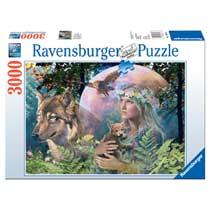 Ravensburger puzzel Wolven manenschijn - 3000 stukjes