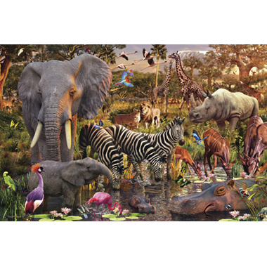 - 3000 Stuks Puzzel African Animals