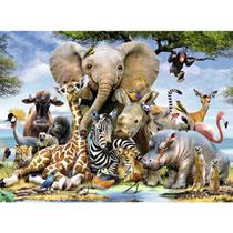- 300 Stuks Puzzel Afrikaanse Vrienden
