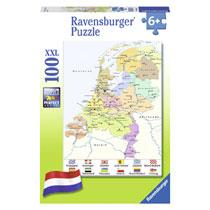 Ravensburger puzzel Kaart van Nederland - 100 stukjes