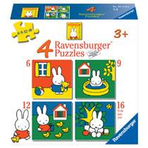 Ravensburger Nijntje puzzelset - 6 + 9 + 12 + 16 stukjes