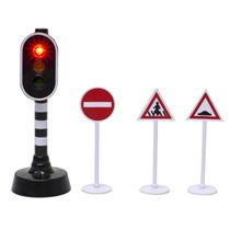 Kids Globe Traffic stoplicht met verkeersborden