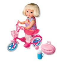 Evi Love en haar eerste fiets