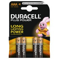 Duracell Plus Power AAA alkaline batterijen - 4 stuks