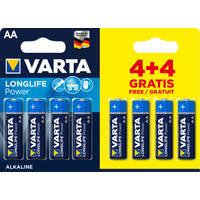 Varta AA Batterijen 4+4 Gratis