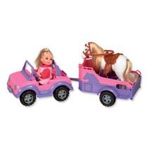 Evi jeep met paardentrailer