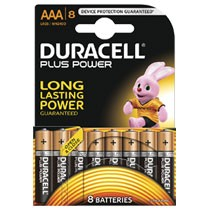 Duracell Plus Power AAA alkaline batterijen - 8 stuks