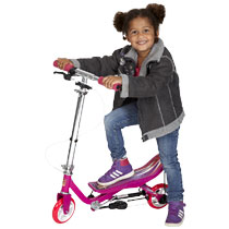 - Space Scooter Junior Roze-Paars -