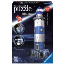 Ravensburger 3D-puzzel vuurtoren Night Edition - 216 stukjes