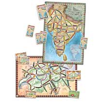 - Ticket to Ride: India/Zwitserland - bordspel