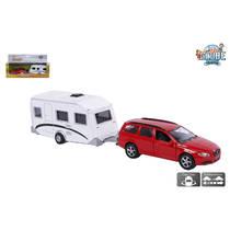 Kids Globe Traffic Volvo auto met caravan