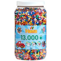 Hama strijkkralen in pot 13000-delig