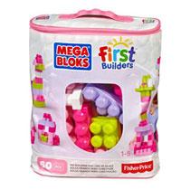 MEGA BLOKS BAG 60 PCS PINK