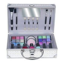 Make-up koffer aluminium 41-delig