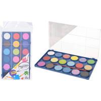 Waterverf set van 18 kleuren met kwast