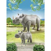 - PLAYMOBIL neushoorn met baby 6638