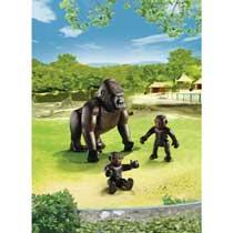 - PLAYMOBIL gorilla met baby's 6639