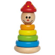 - Houten clown stapelfiguur