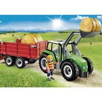 - PLAYMOBIL Country tractor met aanhangwagen 6130