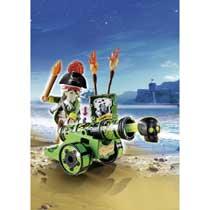 - PLAYMOBIL Pirates piratenkapitein met groen kanon 6162