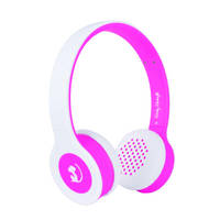 Wonky Monkey Wireless Bluetooth koptelefoon - roze/wit