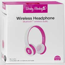 - Wonky Monkey Wireless Bluetooth Headphone Roze-Wit