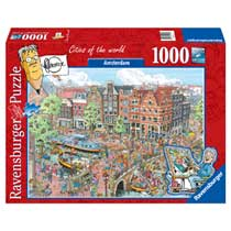 Ravensburger puzzel Fleroux Cities of the world: Amsterdam - 1000 stukjes