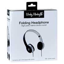 Wonky Wonkey Foldable Headphone Zwart