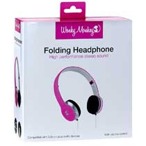 Wonky Monkey Foldable Headphone Roze