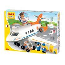Abrick vliegtuig met figuren