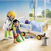 - PLAYMOBIL City Life ziekenhuiskamer met arts 6661