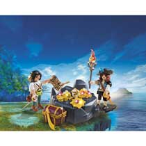 - PLAYMOBIL Pirates Koninklijke schatkist met piraat 6683