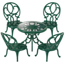 4507 SF ORNATE GARDEN TABLE & CHAIRS