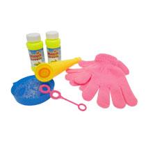 Magische bellenblaas met handschoenen