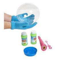 - Magische bellenblaas met handschoenen --