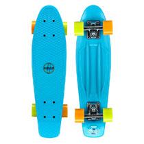 - Nijdam plastic skateboard - 22,5 inch - blauw