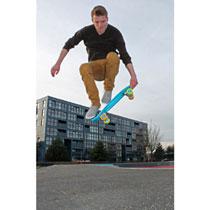 Nijdam plastic skateboard - 22,5 inch - blauw
