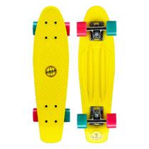 - Nijdam plastic skateboard - 22,5 inch - geel
